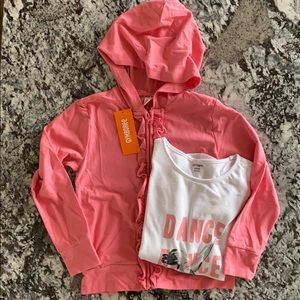 Gymboree pink coral hoodie and top